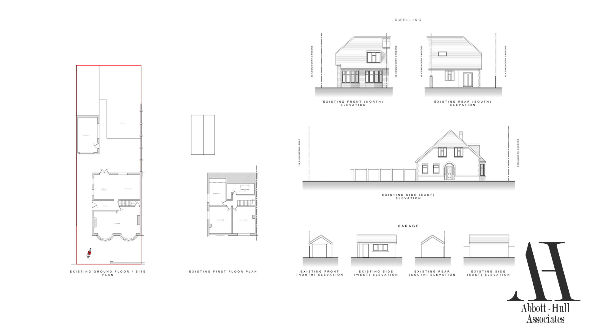 Kenilworth Gardens, Blackpool - Existing Plans and Elevations