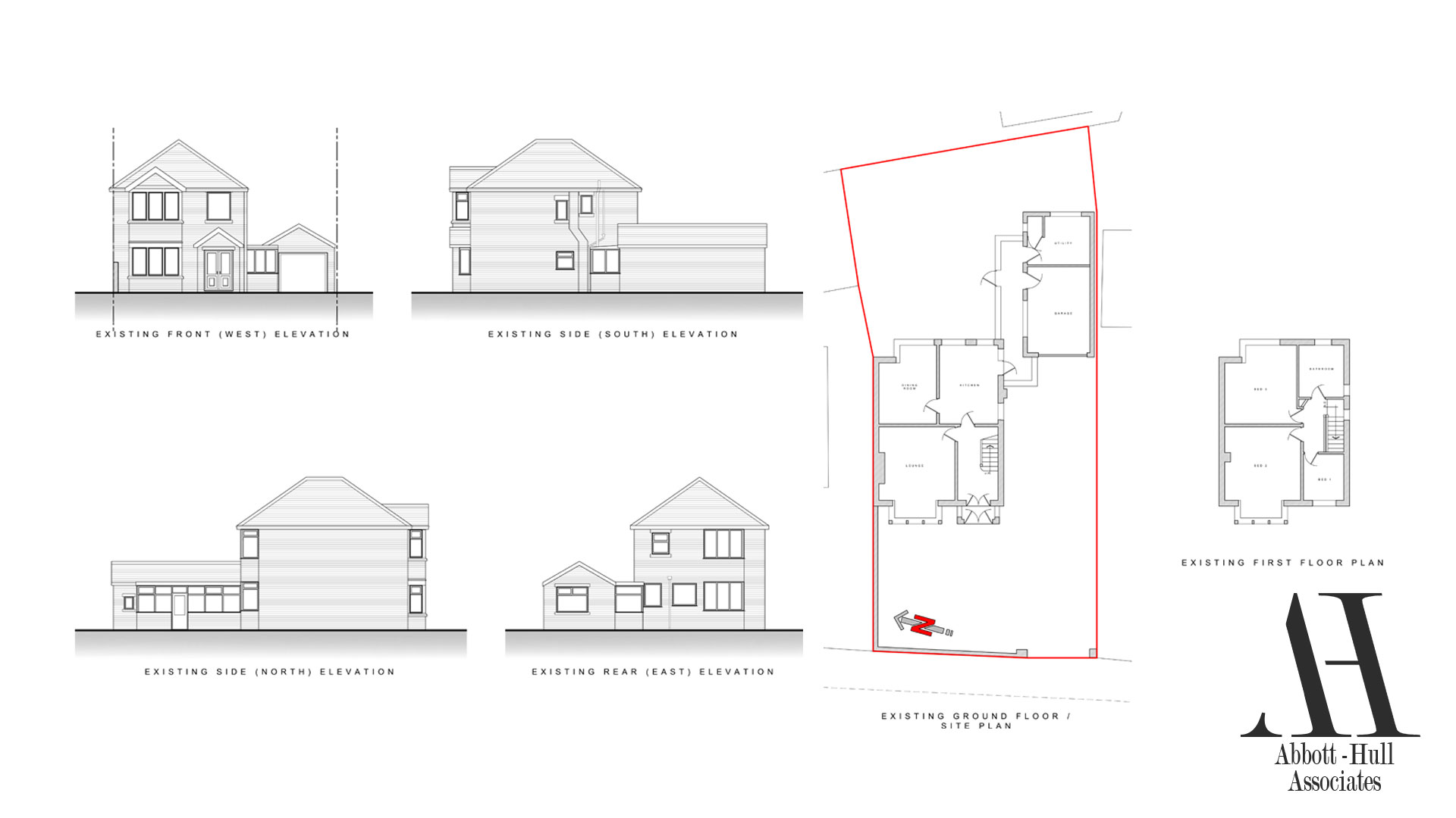 Marsh Road, Thornton-Cleveleys, House Extension - Existing Plans