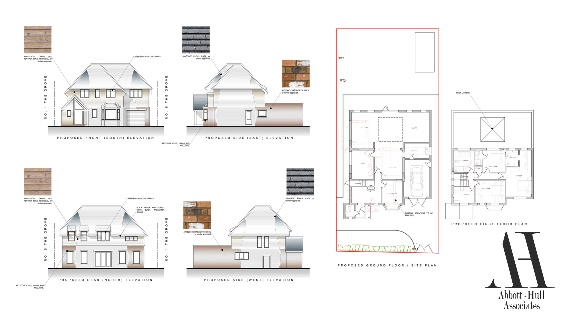 The Grove, Thornton-Cleveleys, House Renovation - Proposed Plans and Elevations