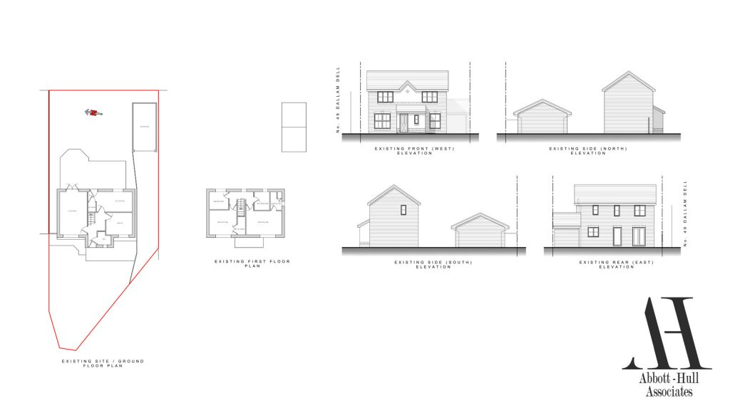 Dallem Dell, Thornton-Cleveleys, House Extension - Existing Plans