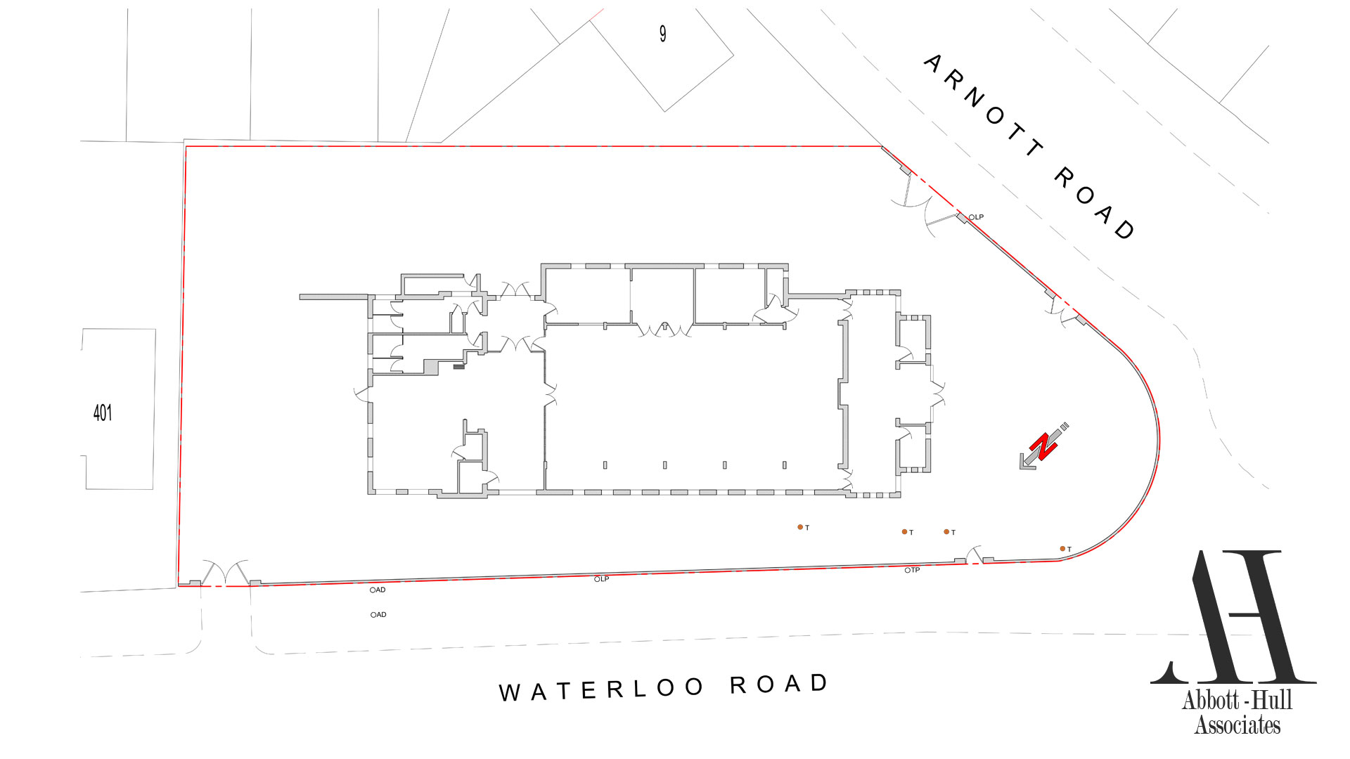Waterloo Road, Blackpool, New Apartment Block - Existing Site Plan