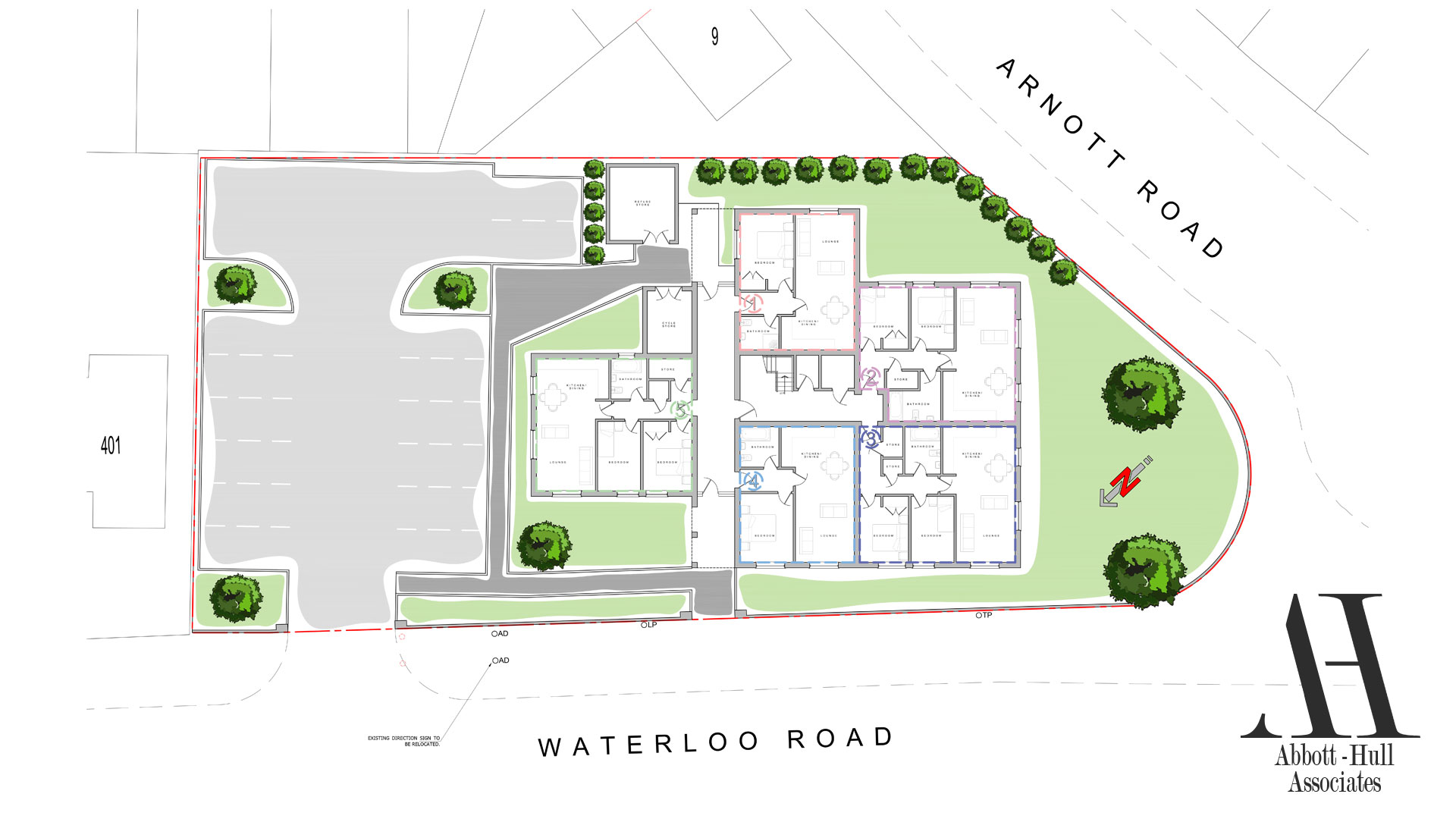 Waterloo Road, Blackpool, New Apartment Block - Proposed Site Plans