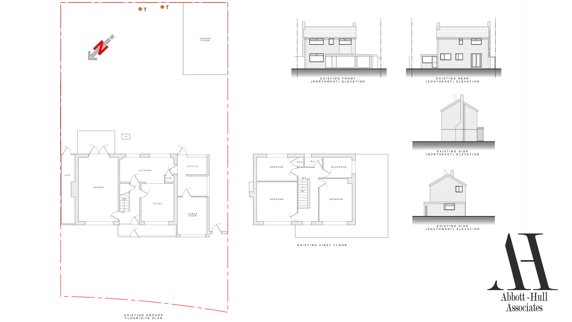 Round Way, Fleetwood, House extension - Existing Plans