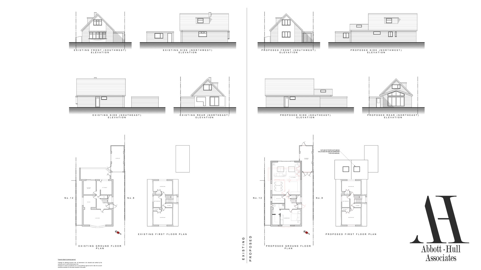 10 Oakwood Avenue, Lytham St. Annes - Existing and Proposed Plans