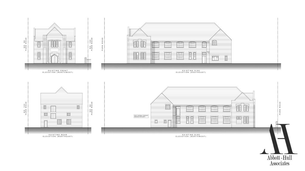 Parochial Hall, Park Road, Blackpool - Existing Elevations