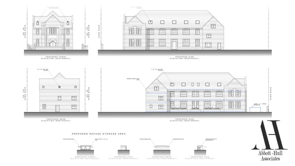 Parochial Hall, Park Road, Blackpool - Proposed Elevations