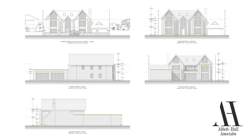 Oldfield Carr Lane, Poulton-le-Fylde, New Dwelling - Proposed Elevations