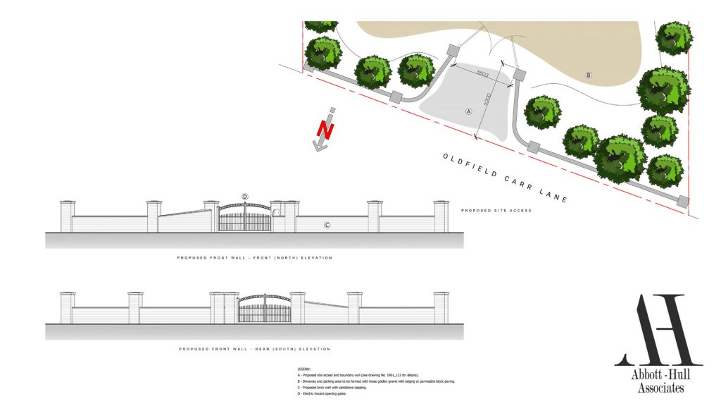 Oldfield Carr Lane, Poulton-le-Fylde, New Dwelling - Proposed Site Access
