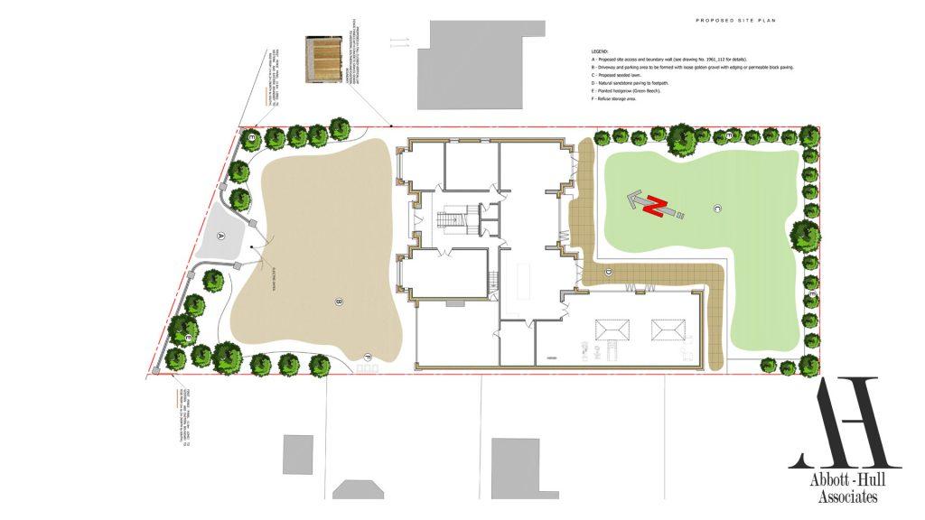 Oldfield Carr Lane, Poulton-le-Fylde, New Dwelling - Proposed Site Plan