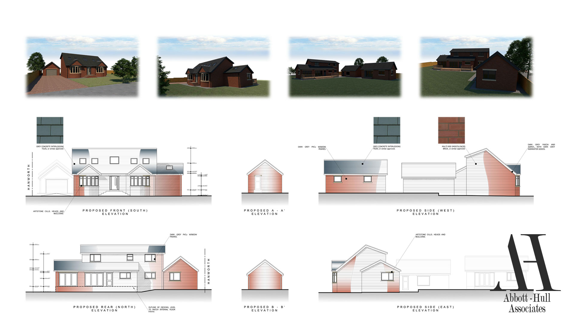 Wayside, New Lane, Thornton-Cleveleys - Proposed Elevations